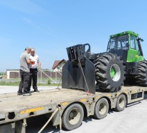 Skidder-ul Noe NF160S este în drum spre clientul nostru din Onești.