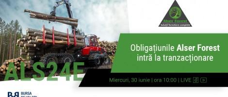 Echipa Alser Forest suna clopotelul bursei pe 30 iunie