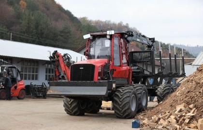 Forwarder Komatsu 875 livrat în județul Bacău