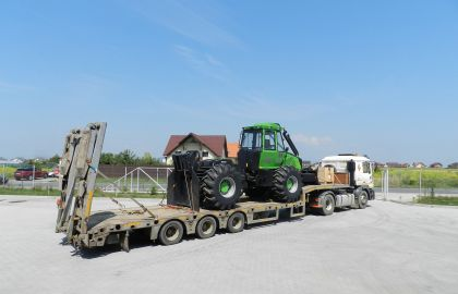 Skidder-ul Noe NF160S in drum spre clientul nostru din Onesti.